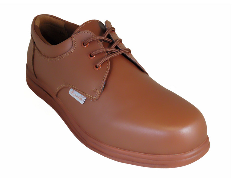 Henselite Mens Victory Lace Up Lawn Bowling Shoes in Tan