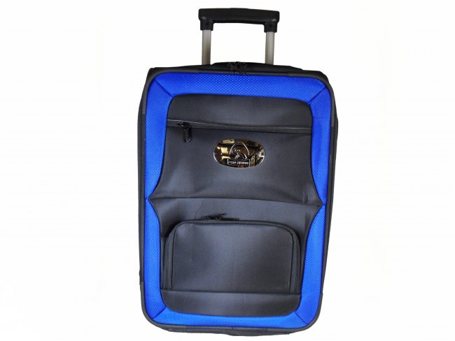Prohawk Argyle Trolley Lawn Bowling Bag Black/Blue