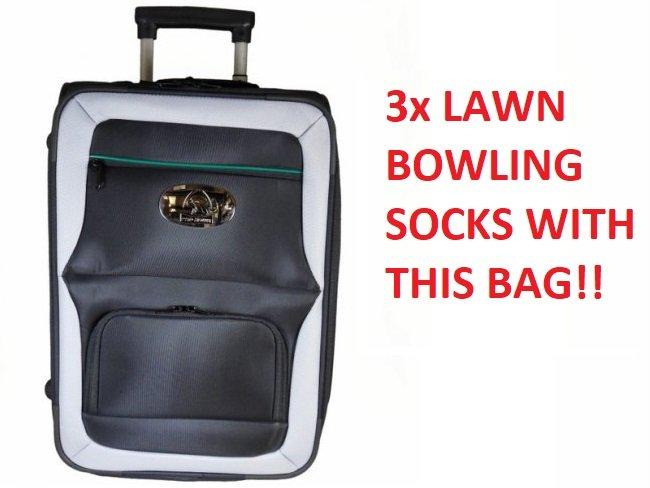 Prohawk Argyle Trolley Lawn Bowling Bag Black/Grey