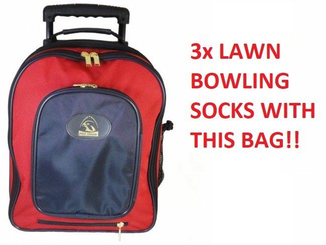Prohawk Stay Dry  Lawn Bowling Trolley Bag Red