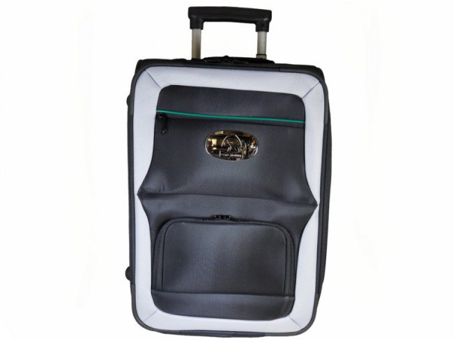 Prohawk Argyle Trolley Lawn Bowling Bag Black/Grey