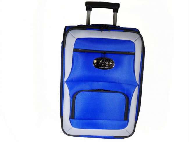 Prohawk Argyle Trolley Lawn Bowling Bag Blue/Grey
