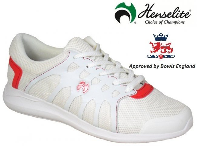 Henselite HM71 Lawn Bowling Trainer. White/Red