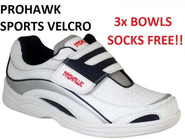 Prohawk Sports Velcro Lawn Bowling Shoes.