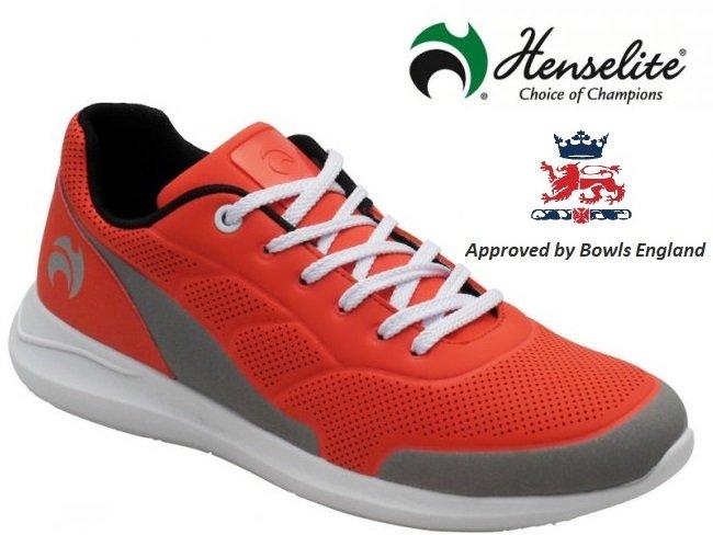 Henselite HM74 Lawn Bowls Shoe. Dessert/Grey