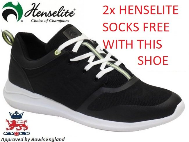 Henselite HM74 Lawn Bowls Shoe in Black
