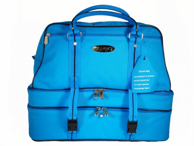 Darwin Lawn Bowls Bag Light Blue Triple Decker