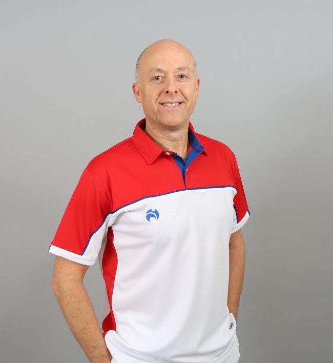 Henselite Lawn Bowling Madrid Polo White-Red-Blue