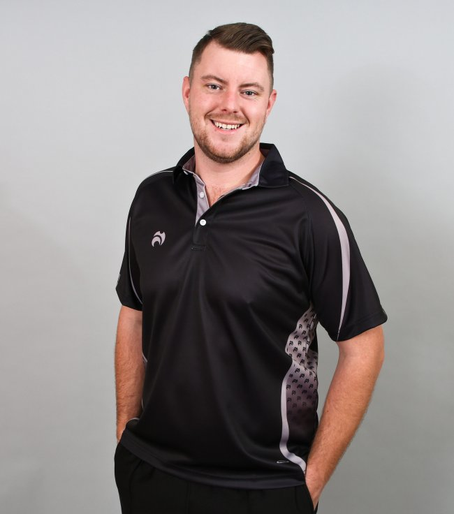 Henselite Lawn Bowling Signature Polo Black-Grey