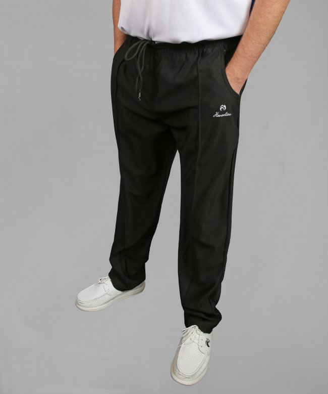Henselite Lawn Bowling Sports Trousers in Black. Super Comfy.