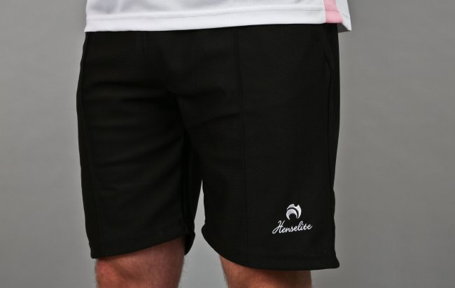 Henselite Lawn Bowling Sports Shorts. Black.