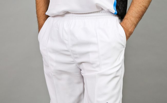 Henselite Lawn Bowling Sports Shorts. White