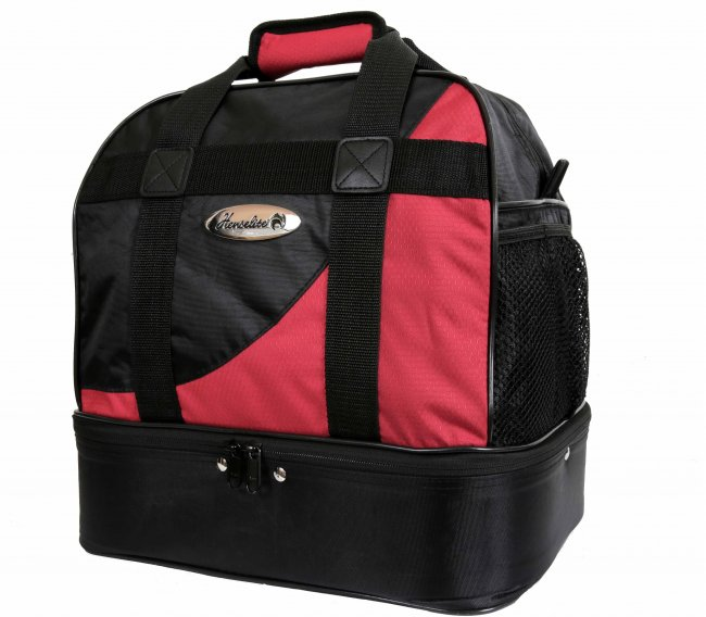Henselite Professional Midi Lawn Bowls Bag. Bla/Red