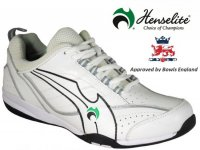 Henselite Blade34 Lawn Bowling Trainers. White