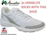 Henselite HM75 Sport Bowls Trainer. White/Grey