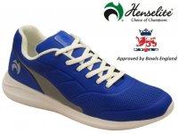 Henselite HM74 Lawn Bowls Shoe. Blue/Grey