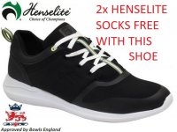 Henselite HM74 Lawn Bowls Shoe in Black