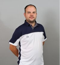 Henselite Lawn Bowling Madrid Polo White-Navy-Grey