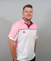 Henselite Lawn Bowling Madrid Polo White-Pink-Burgundy
