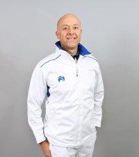 Henselite Lawn Bowling Full Zip Fleece Jacket - Blue Trim