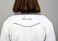 Henselite Lawn Bowling Full zip fleece white grey back